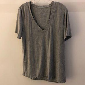 Lululemon gray SS top, sz 10, 64578